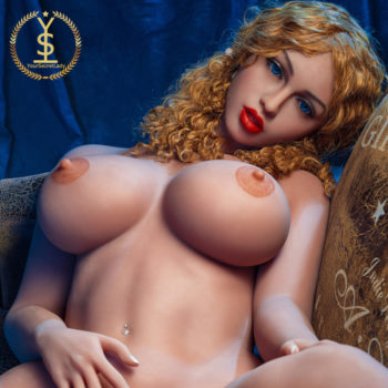 Ebony – Super Hot Curly Haired Silicone Love Doll With Perfect Ass - Blonde silicone sex dolls