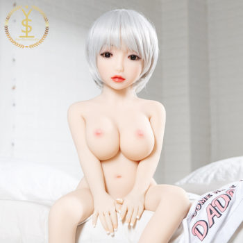 LiMing – AshBlonde Tiny and Cheap Silicone Sex Doll With Big Tits, 39 inch - Blonde silicone sex dolls